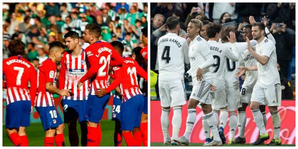 Atlético y Real Madrid