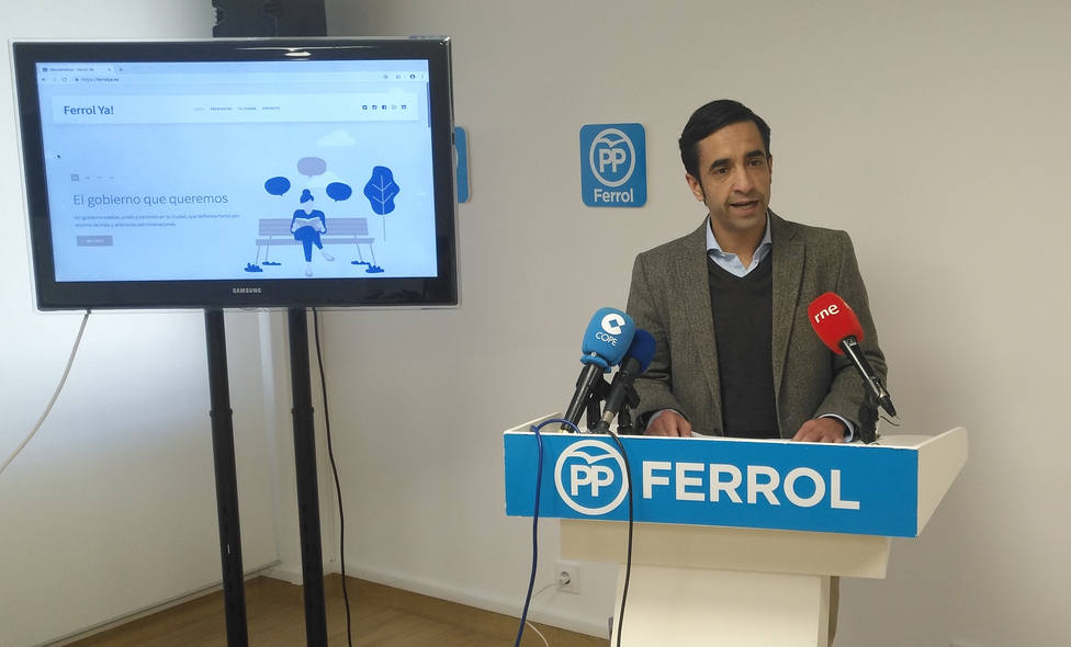 José Manuel Rey Varela, candidato del PP a la Alcaldía de Ferrol