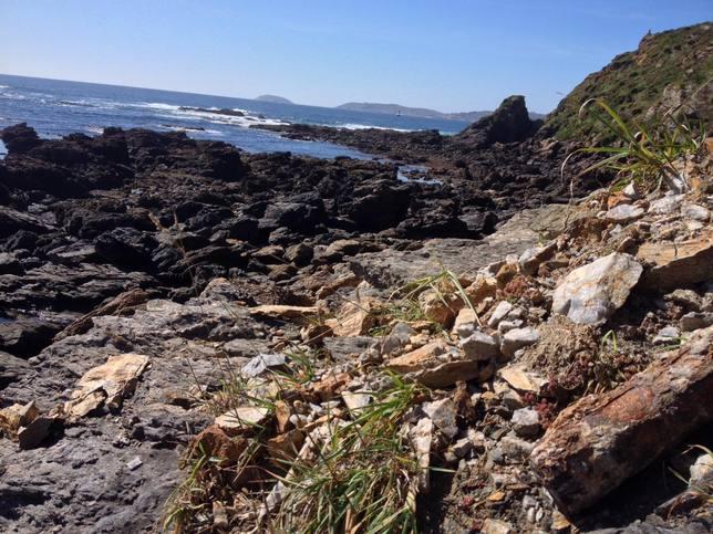 Zona de costa en donde se localizó el proyectil de mediados del siglo XX - FOTO: Armada