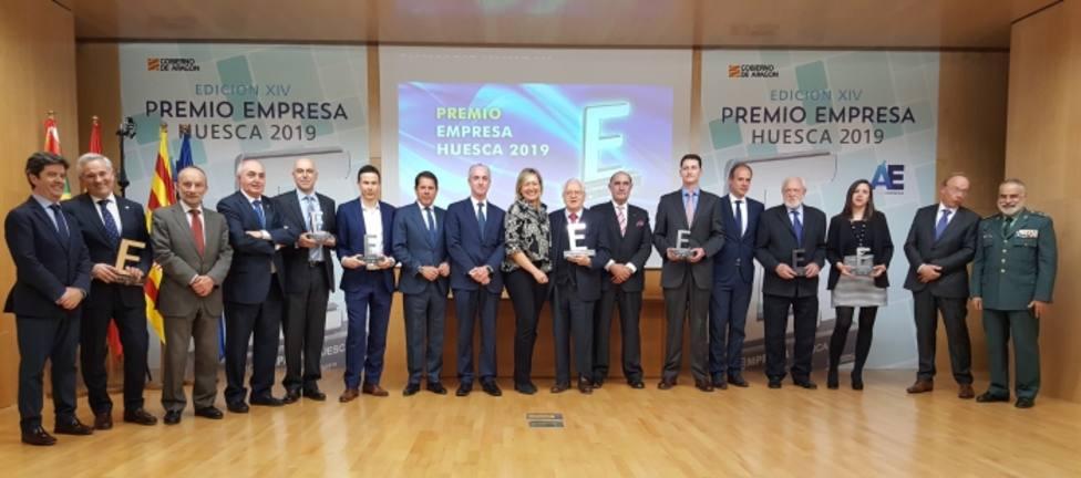 Foto de familia,Premio empresa Huesca 2019