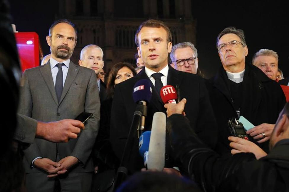 Macron: Reconstruiremos todos juntos Notre Dame, es nuestra historia