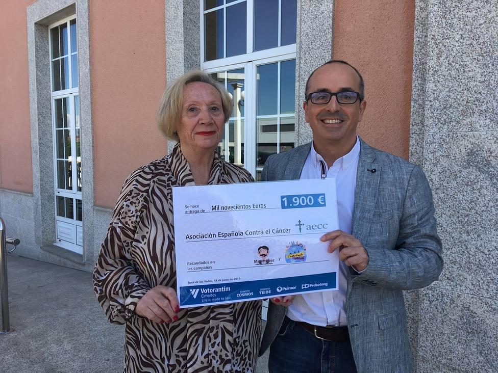 Cementos Comos dona 1.900 euros a la AECC