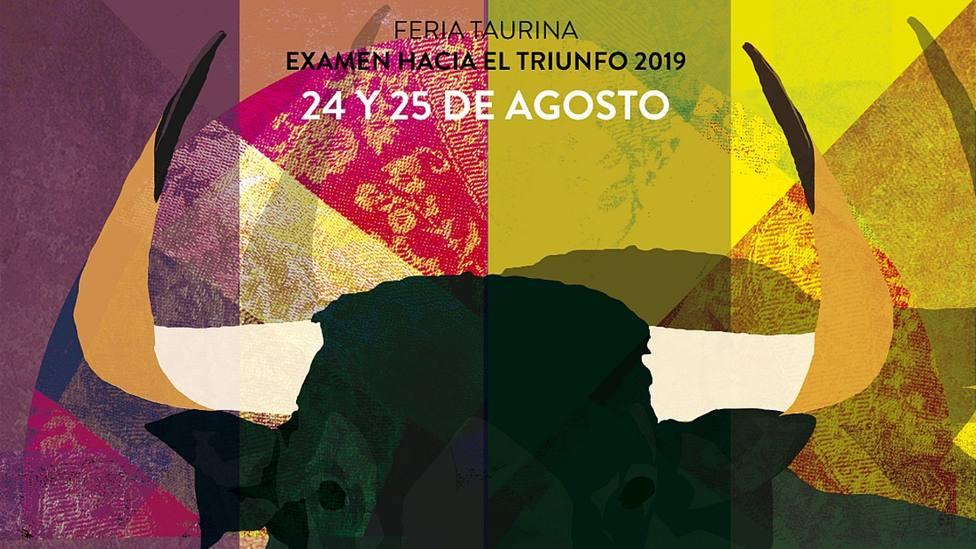 Detalle del cartel anunciador de la feria de novilladas de Cella