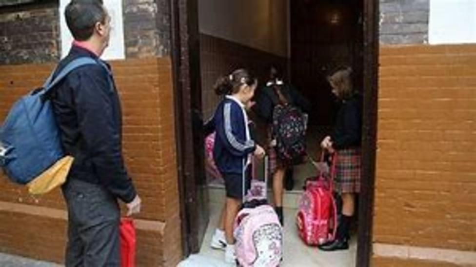 Entrada a un colegio