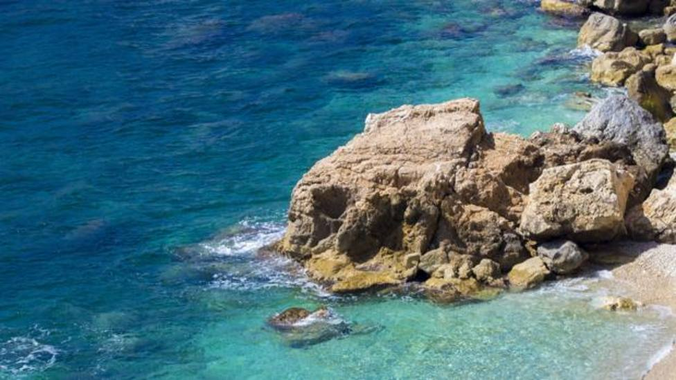 Imagen de una de las partes de la playa de lAmetlla de Mar