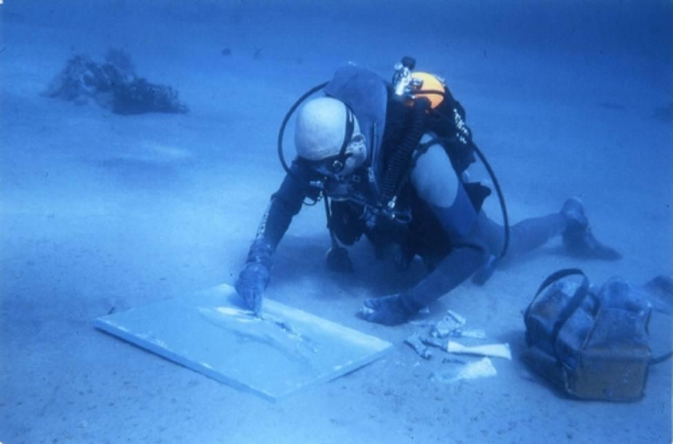 Demostración de pintura subacuática