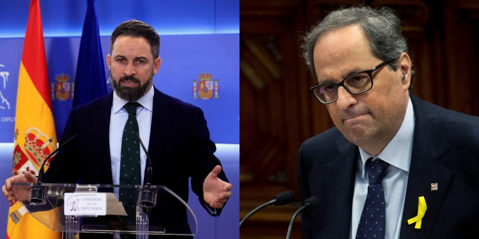Las palabras de Quim Torra que Abascal utiliza como un bumerán para dejar K.O. al presidente de la Generalitat