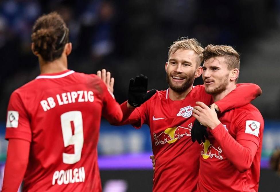 El Leipzig se coloca segundo tras vencer al Hertha; el Paderborn, colista