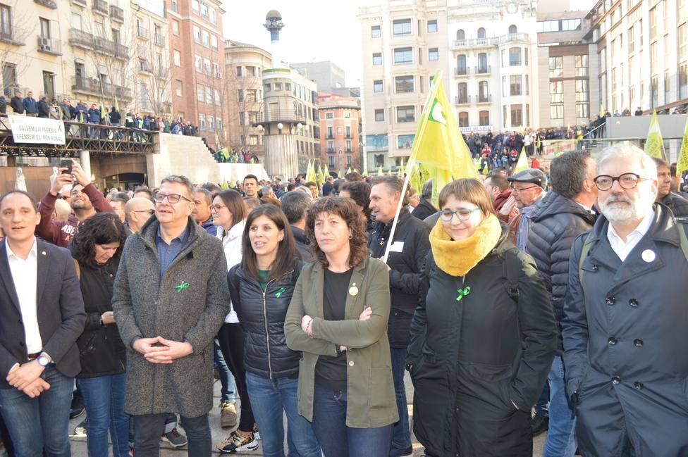 La protesta de los agricultores en Lleida concentra a 3.000 personas y 500 tractores