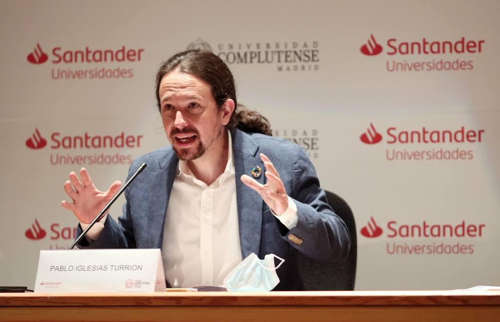 El vicepresidente segundo del Gobierno, ministro de Derechos Sociales y Agenda 2030, Pablo Iglesias