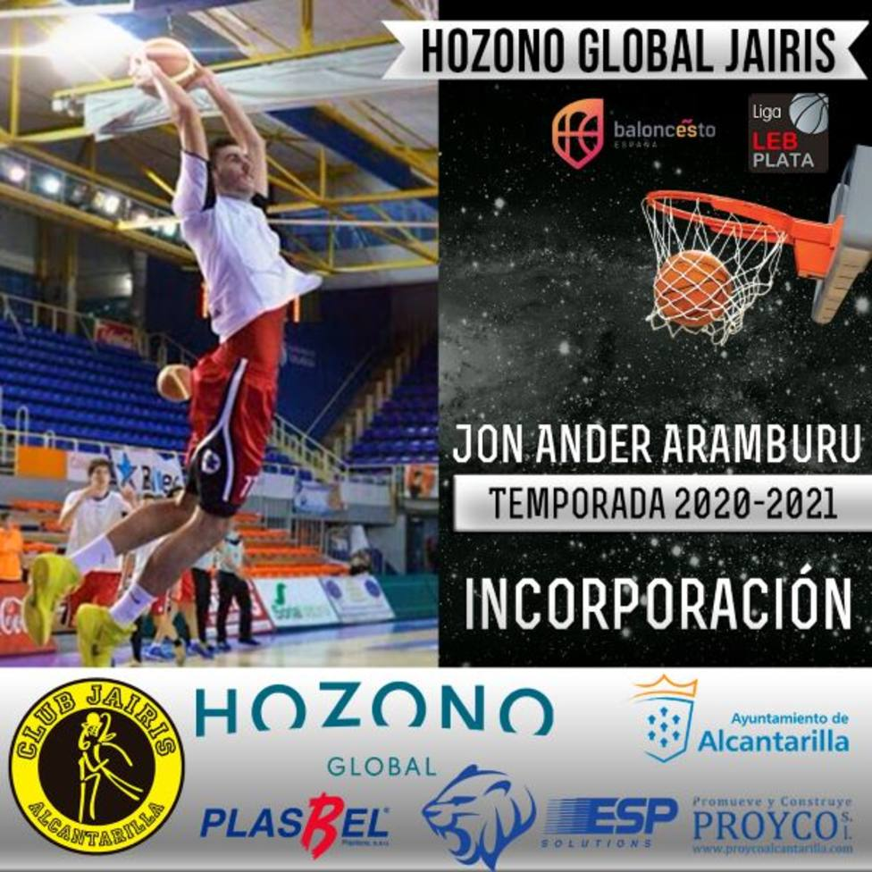 Aranburu llega al Hozono Global Jairis tras subir a LEB Oro con Real Murcia