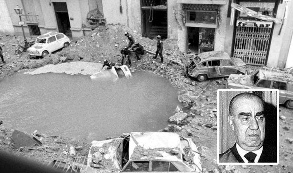 La imagen con la que IU rememora el asesinato de Carrero Blanco y que denuncia Rocío Monasterio: Gravísimo