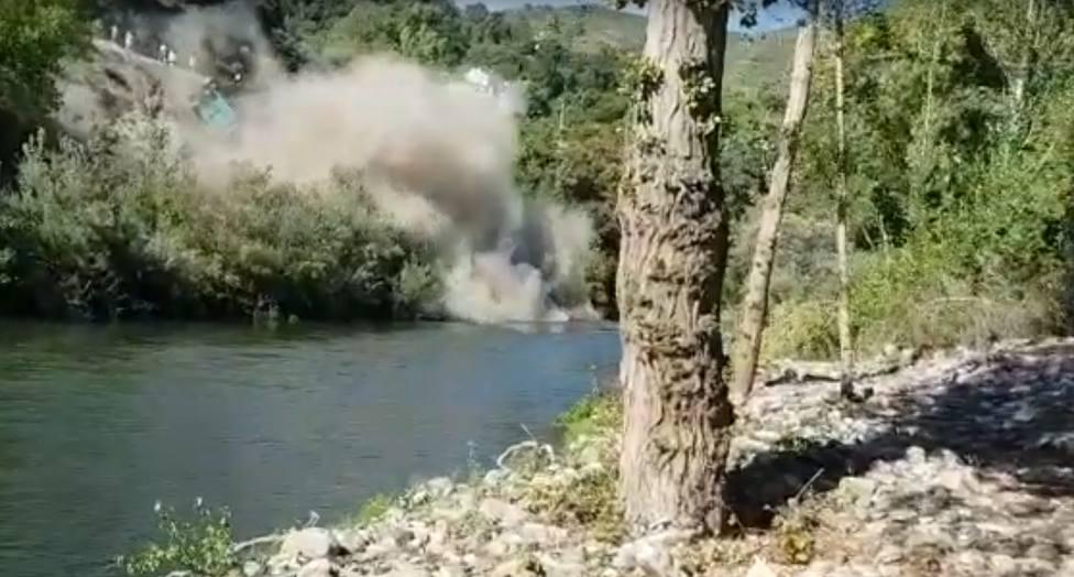 Caída de un vagón al río Sil