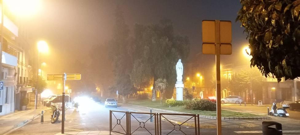 Nieblas en Mérida. Foto: COPE Mérida