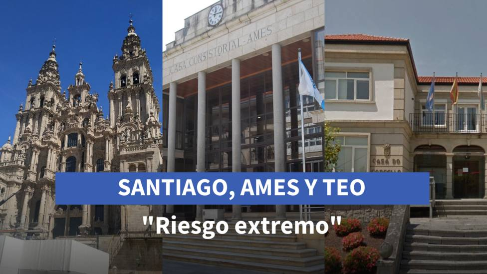 Santiago, Ames y Teo: riesgo extremo por coronavirus