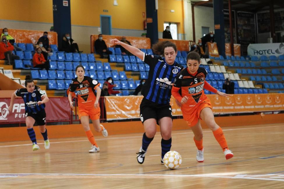 Partido de fútbol sala disputado por las jugadoras del Pescados Rubén Burela FS