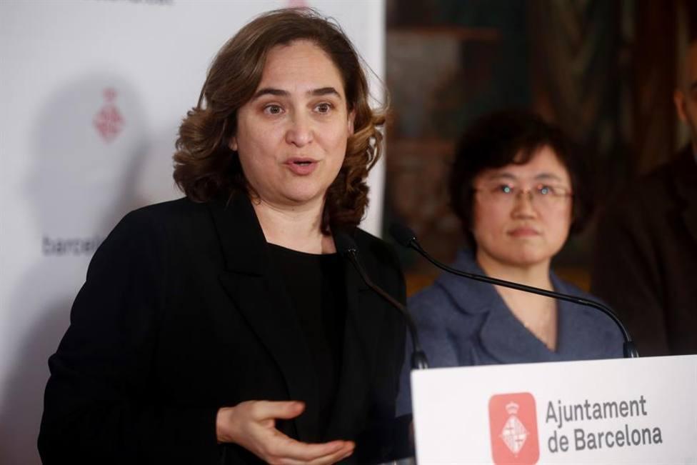 Colau cree irresponsable acto de campaña de Sánchez e Illa en Barcelona
