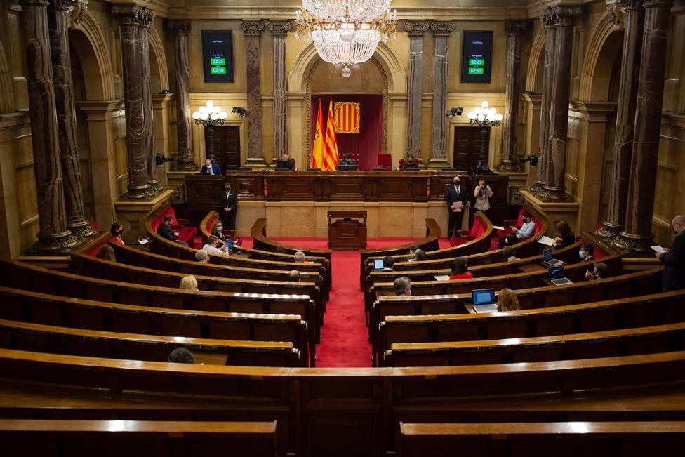 Vista del hemiciclo durante una sesión de control al Govern de la Generalitat - David Zorrakino - Europa Press