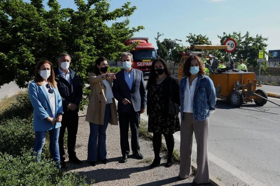 Avanzan las obras para mejorar la seguridad vial de la carretera Lorca Águilas