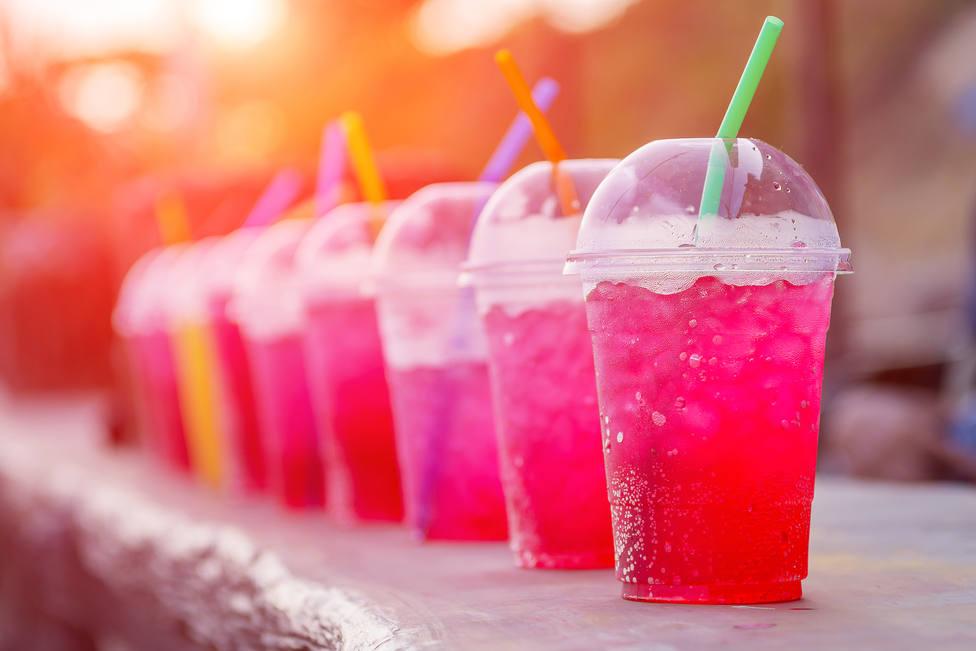 Bebida rosa. imagen de recurso