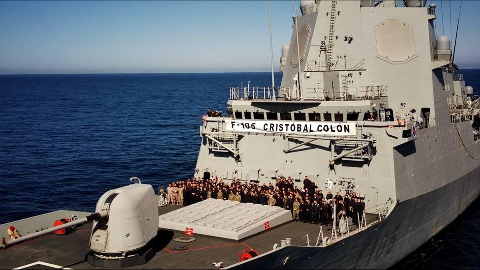 La fragata con base en Ferrol tras finalizar estas maniobras - FOTO: Armada