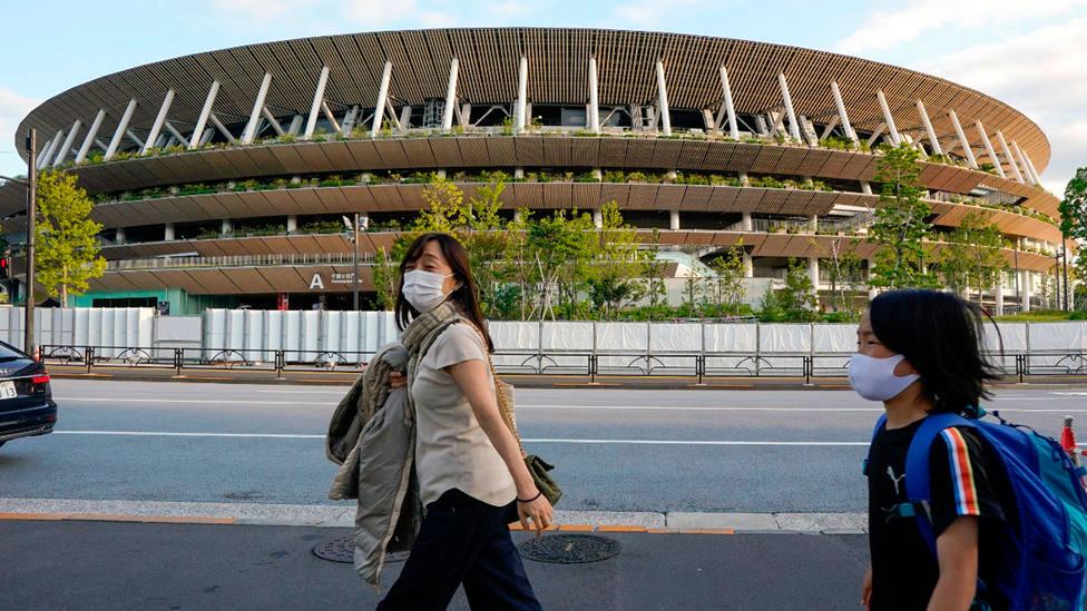 Imagen del Estadio Nacional de Tokio, sede de los Juegos Olímpicos. EFE