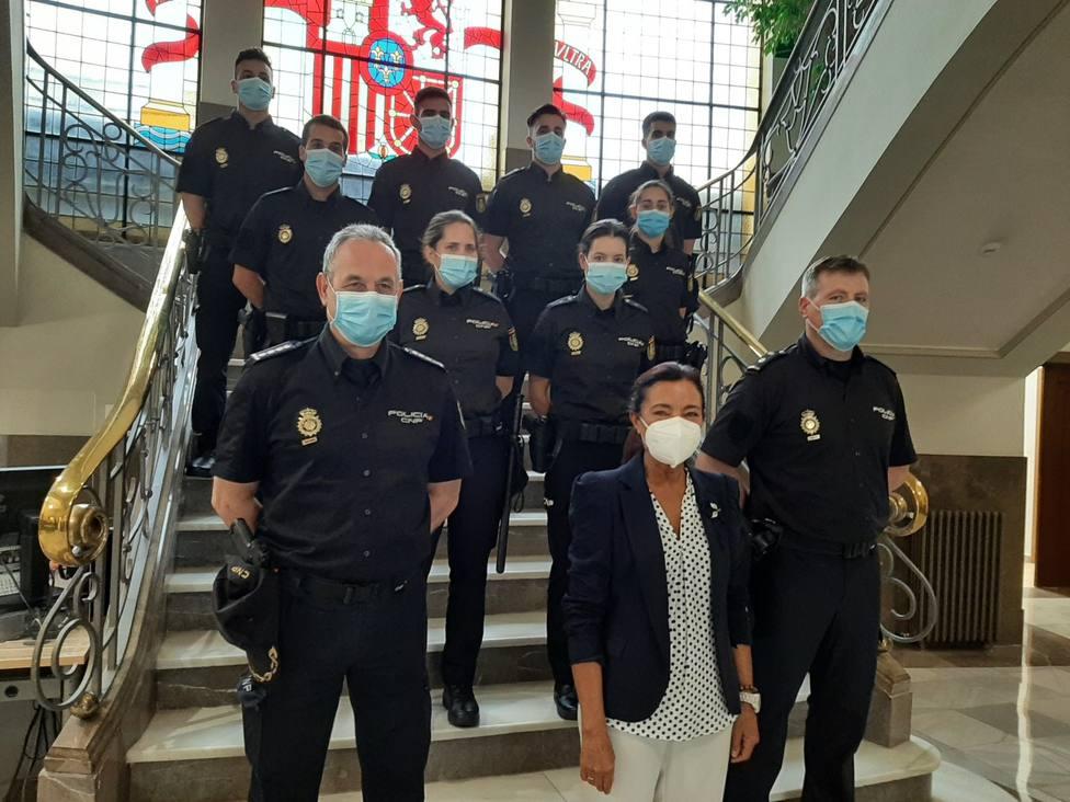 Los agentes fueron recibidos en la Subdelegación del Gobierno