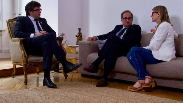 Torra y Puigdemont ofrecen una rueda de prensa conjunta en Berlín