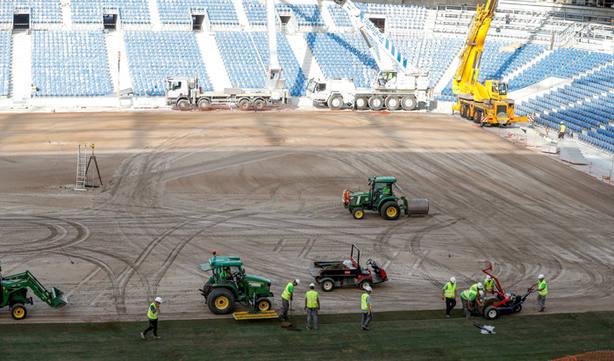 El Estadio de Anoeta en plena reforma