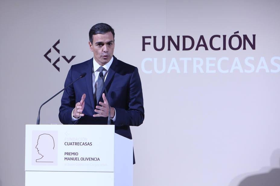 Sánchez felicita a IAG en la entrega del I Premio Manuel Olivencia al Buen Gobierno Corporativo: Enhorabuena por tanto