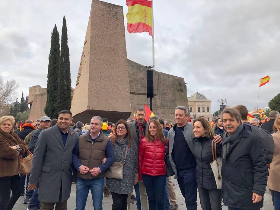 Cs Baleares acude a la concentración de Plaza de Colón para defender una España unida