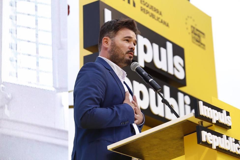 Rufián sobre Iceta: En esta legislatura se podrá hablar con ERC pero no hacerle chantaje