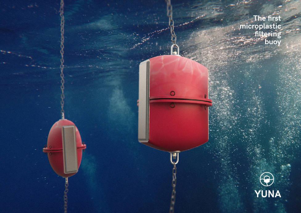 La boya Yuna elimina microplásticos