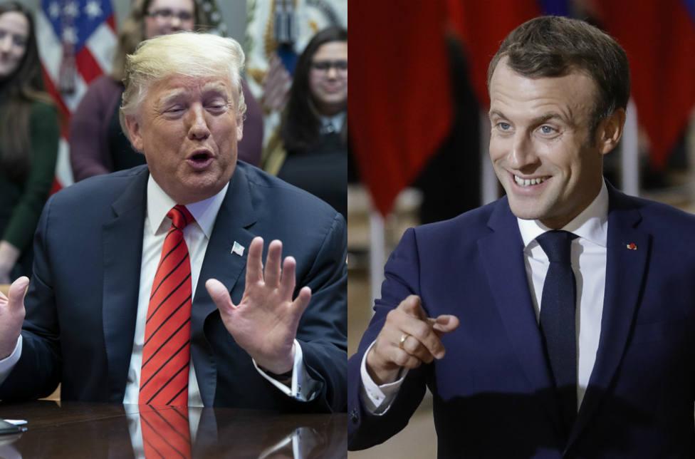 El dardo envenenado de Donald Trump a Macron que retrata al presidente francés