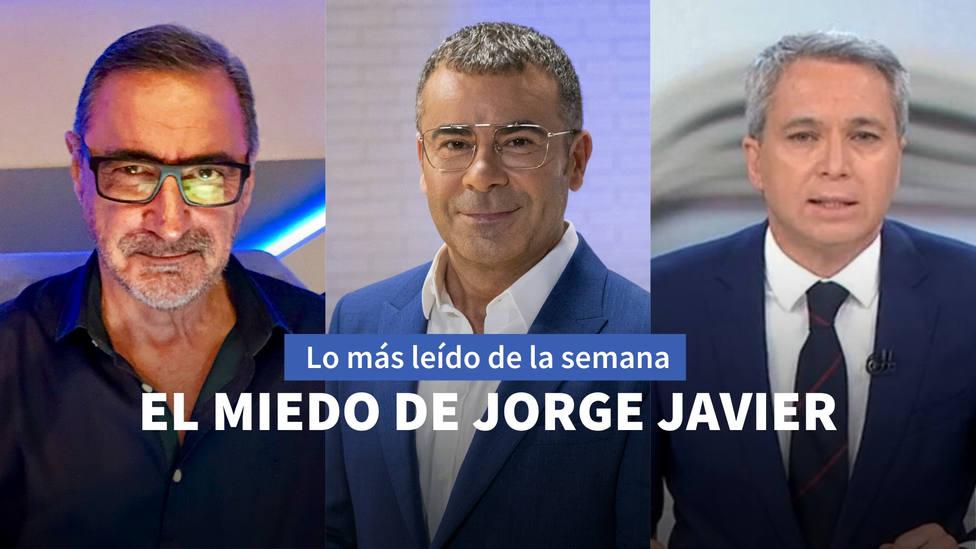 El miedo de Jorge Javier Vázquez a Diaz Ayuso, entre los más leido de esta semana