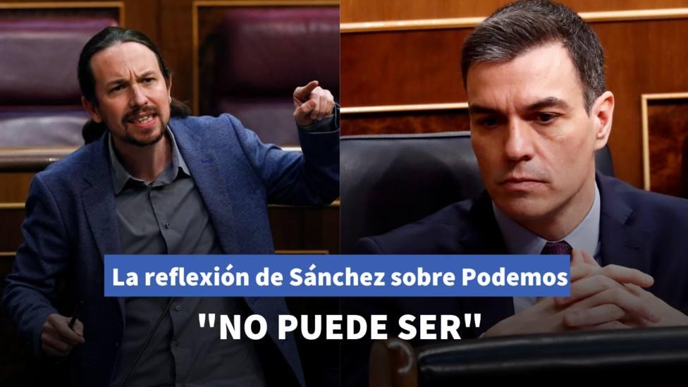 La reflexión de Sánchez sobre los partidos imputados que no gustará a Pablo Iglesias
