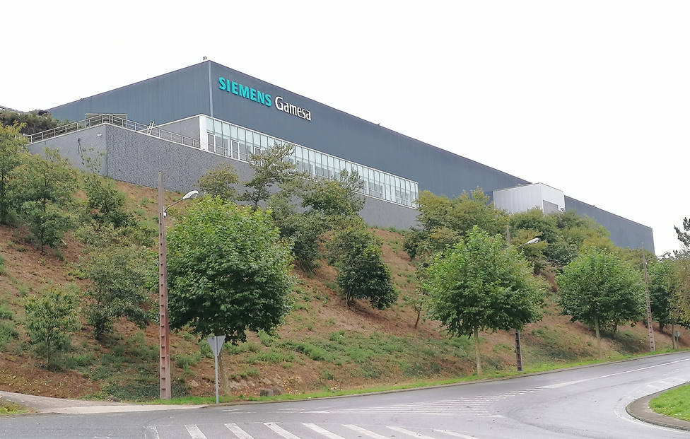 Foto de archivo de la planta de Siemens Gamesa en As Somozas