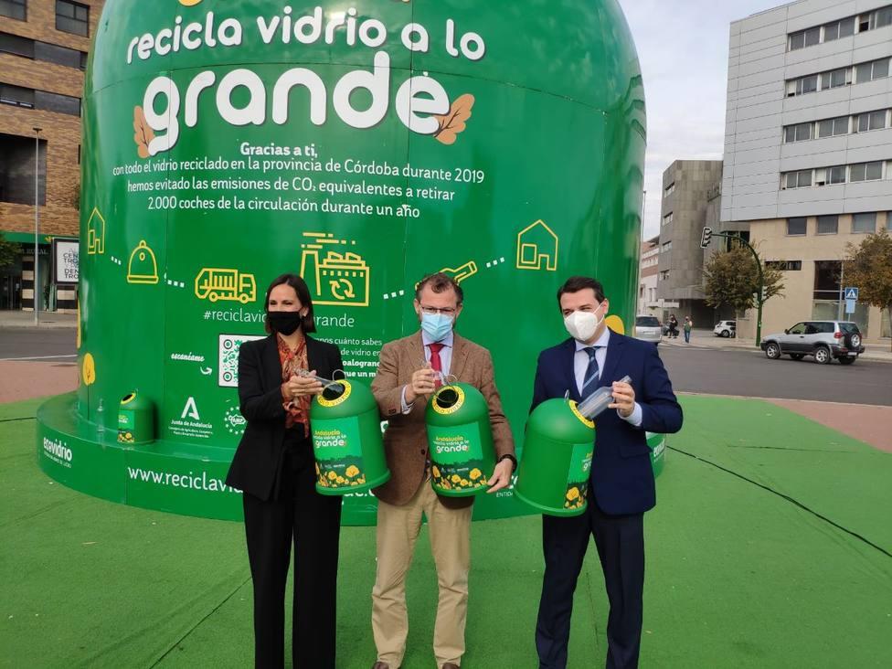 Córdoba cuenta con el contenedor más grande del mundo para concienciar sobre el reciclaje del vidrio