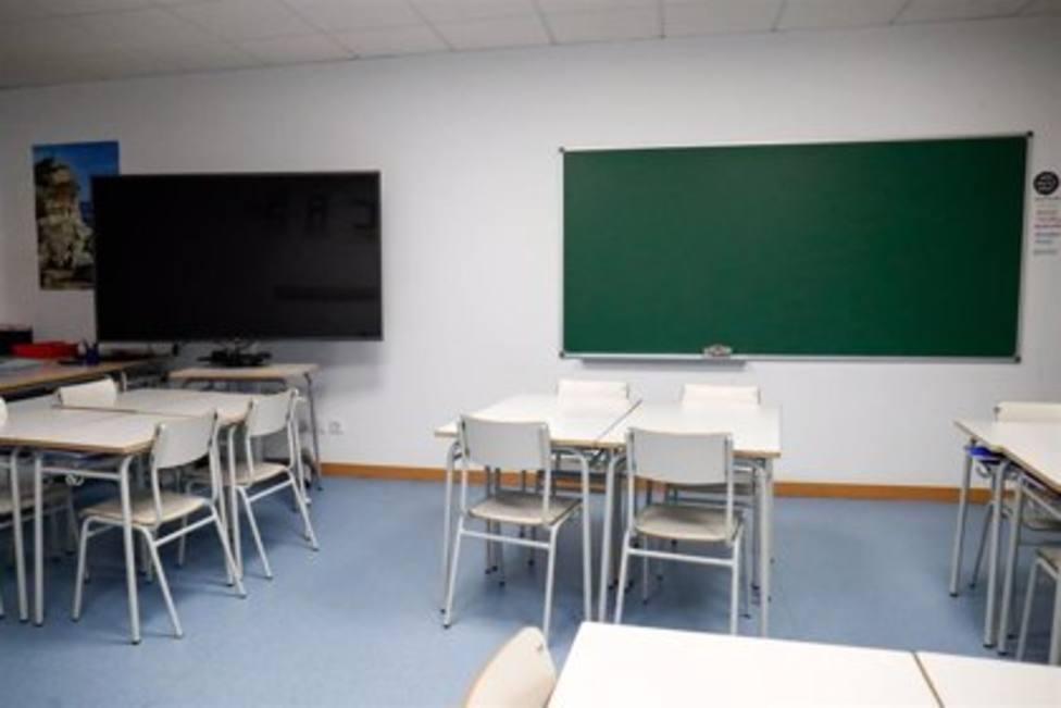 Aula en un colegio de Asturias