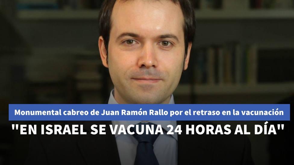 El monumental cabreo de Juan Ramón Rallo por los retrasos en las vacunaciones: Para septiembre