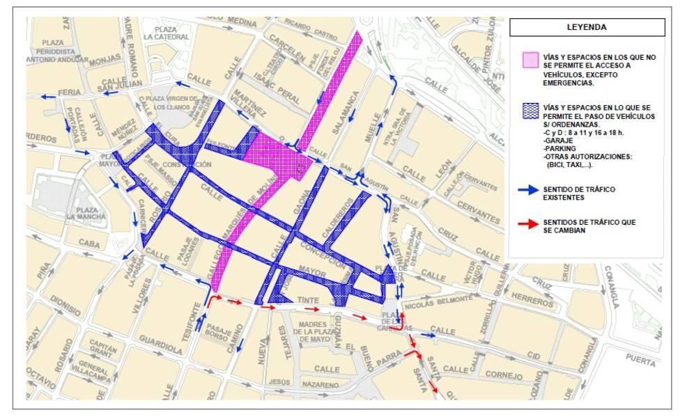 Plano de la propuesta para el centro de Albacete