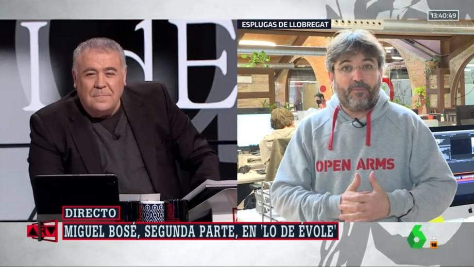 Jordi Évole rompe los esquemas a Ferreras al destapar el último comentario de Miguel Bosé: Mensaje de voz