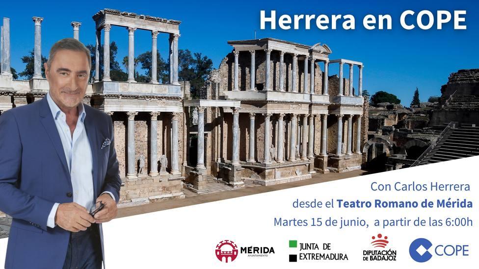 Carlos Herrera realizará su programa desde Extremadura el 15 de junio