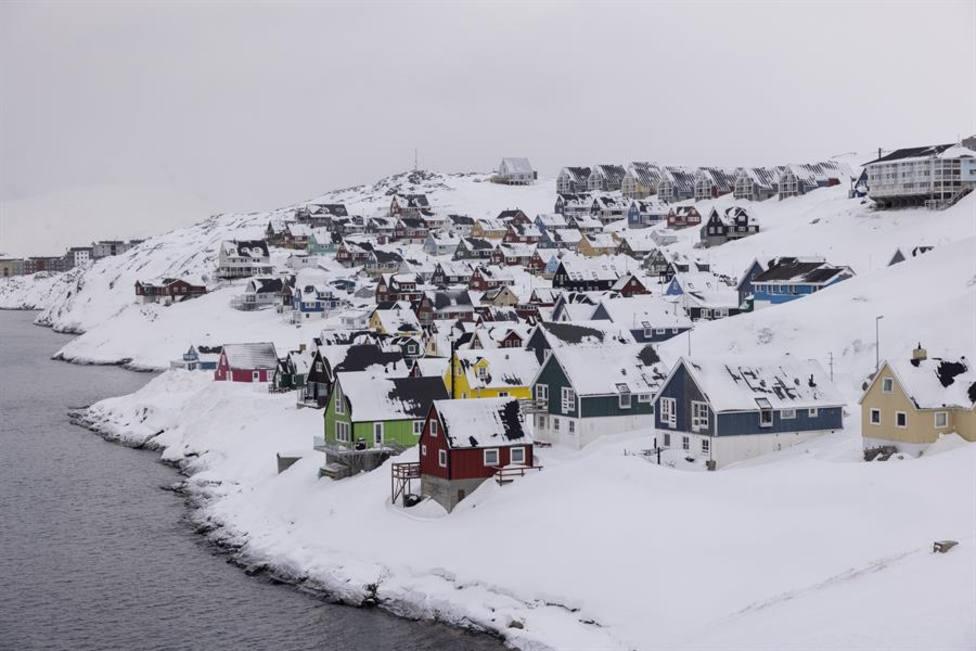 Una vista de Nuuk, capital de Groenlandia