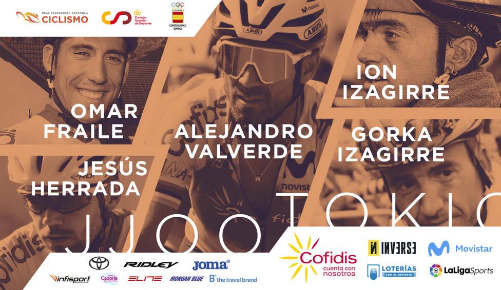El equipo olímpico de ciclismo de participará en los Juegos de Tokio.