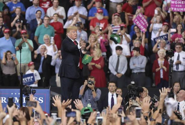 Trump rally en eventoMake America Great Again, en Indiana
