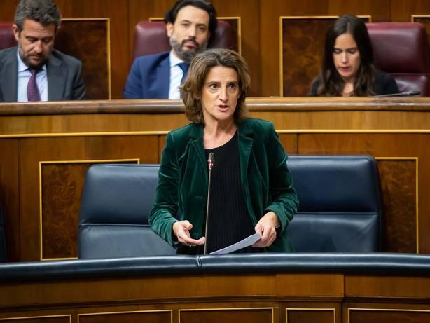 Teresa Ribera incide en que el Gobierno podría adelantar aspectos urgentes de la ley de cambio climático un Real Decreto