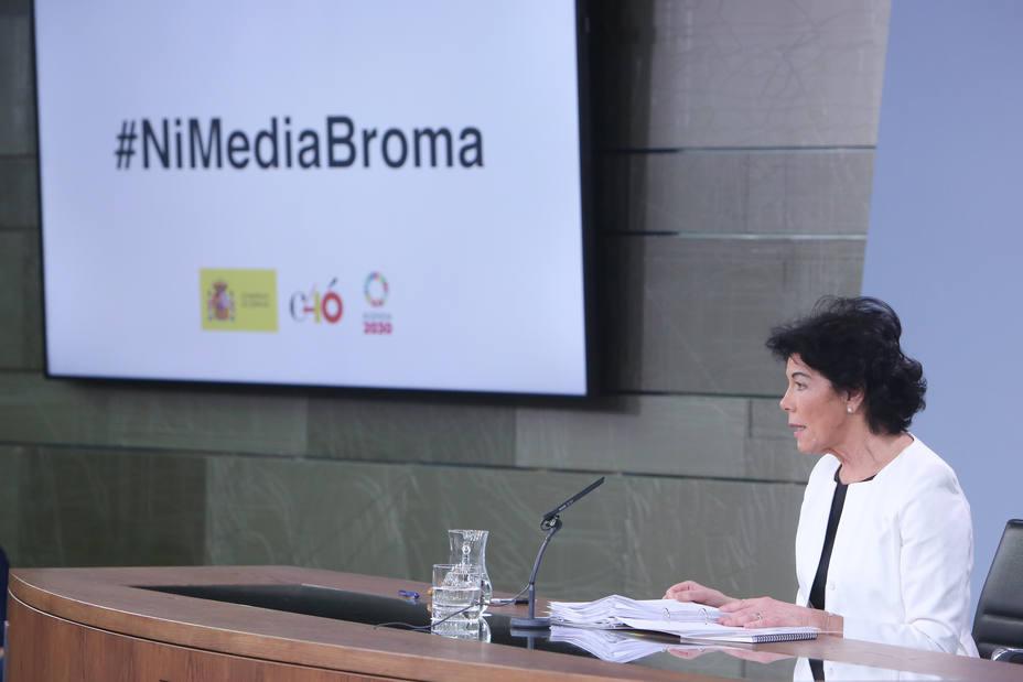 Celaá afirma que la ultraderecha de Vox no debería estar en las instituciones