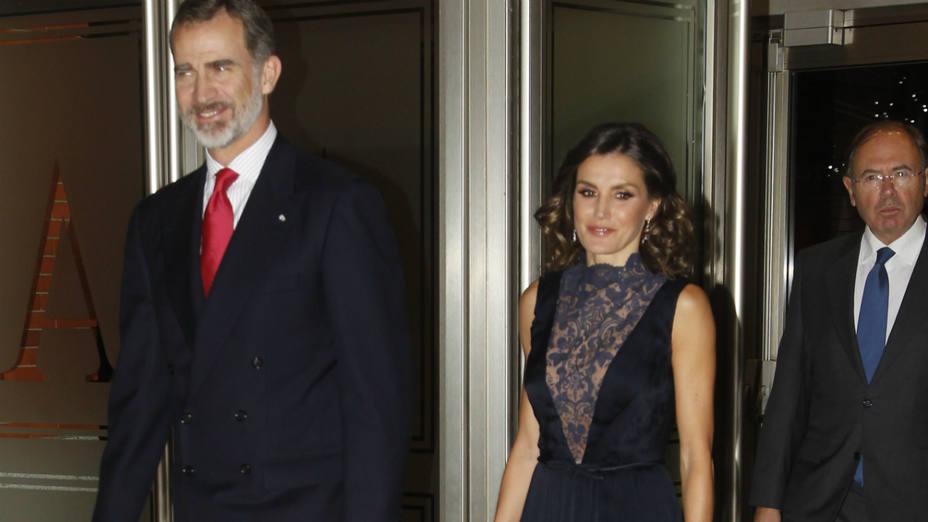 Los reyes de Espana en el concierto para celebrar el 40 aniversario de la Constitución