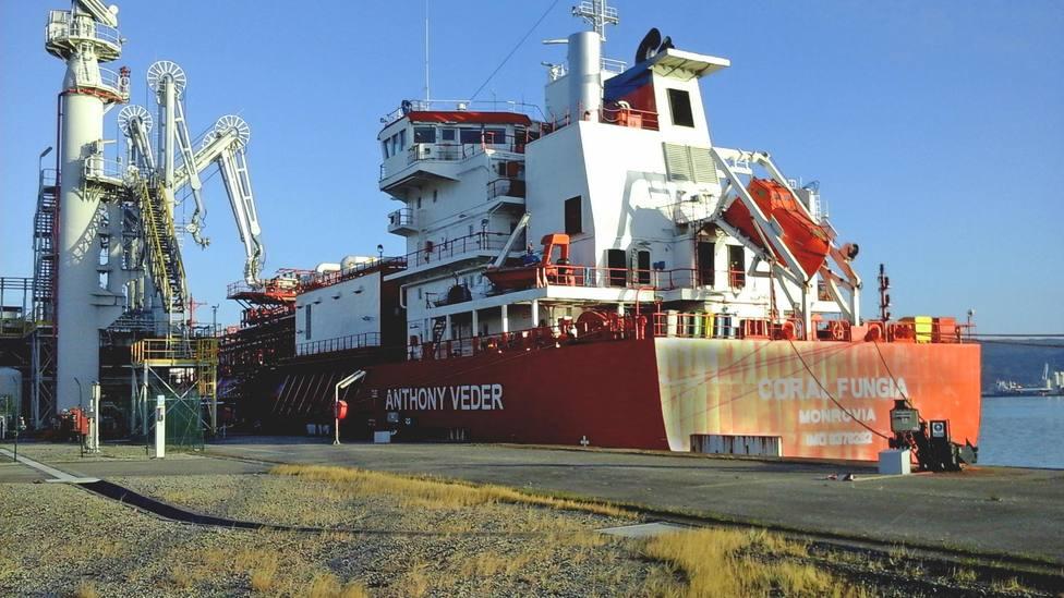 El buque Coral Fungia atracado en Reganosa - FOTO: Reganosa